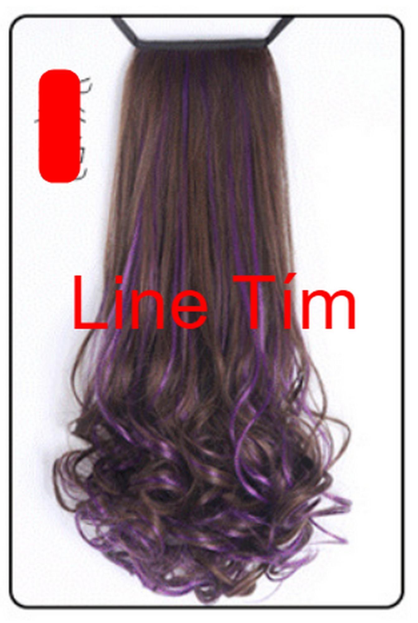 Tóc Giả Cột 2 Line xoắn đuôi Cao Cấp (48cm-100g) Shoptido