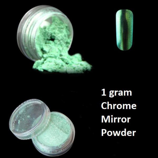 Bột màu giả kim hiệu ứng Gương trang trí móng tay (1gram Xanh Lính #35) giá rẻ
