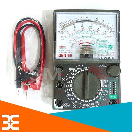 Đồng Hồ Đo Điện Vạn Năng MULTITESTER DE 960TR Dạng Kim (Tặng pin 9V black KingKong bên ngoài)