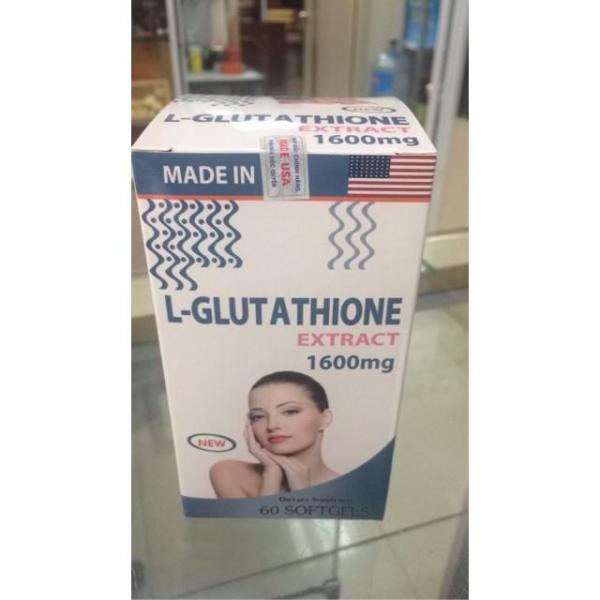 L-Glutathione extract 1600mg trắng da nhập khẩu