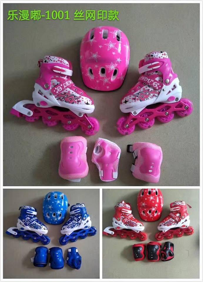 [NEW] Full Set Giày Trượt Patin + Bao Tay + Mũ Bảo Hiểm Màu Xanh