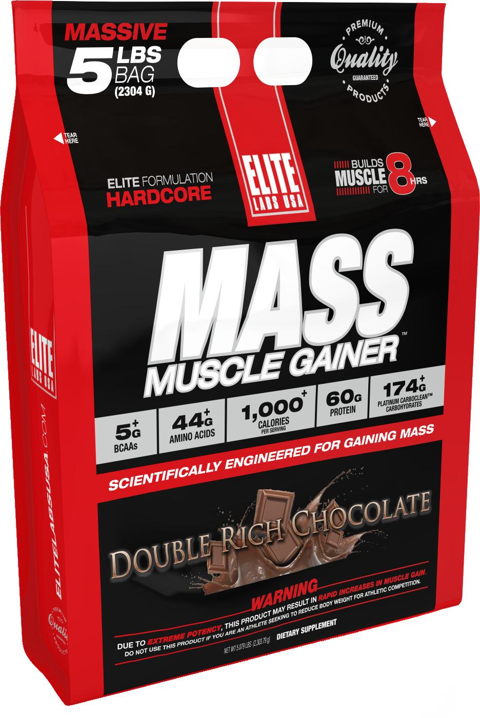Sữa tăng cân tăng cơ Elite Labs Mass Muscle Gainer Double Rich Chocolate