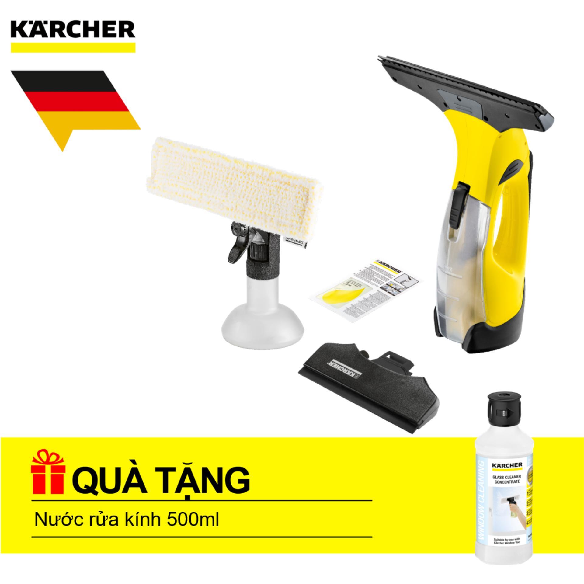 Máy lau kính cầm tay Karcher, WV 5 Premium + Tặng nước lau kính 500ml