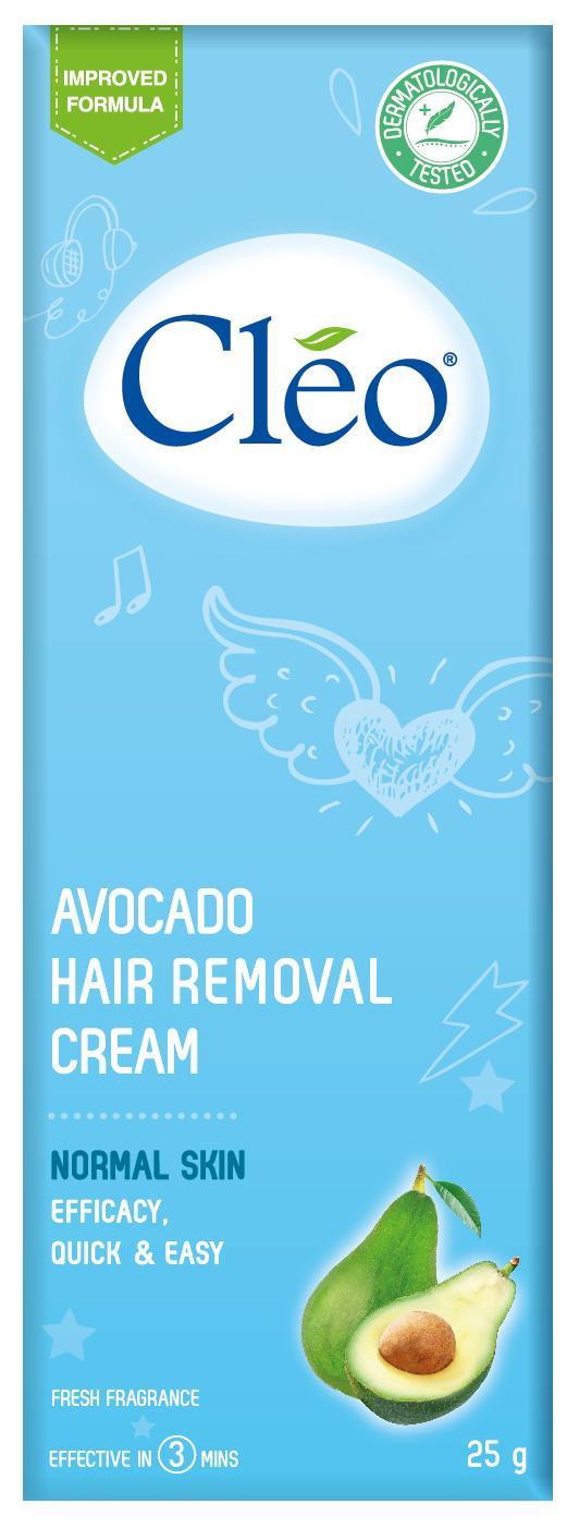 Kem Tẩy Lông Cho Da Thường Cleo 25g  Avocado Hair Removal Cream Normal Skin