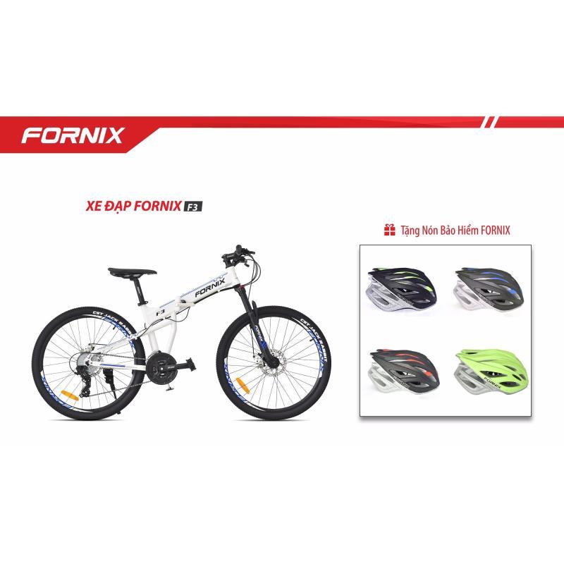 Mua Xe đạp gấp địa hình thể thao Fornix F3 (trắng xanh)+ tặng nón bảo hiểm A02NX1