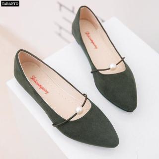Giày búp bê nữ đính ngọc xinh xắn nhiều màu - thời trang TARANTO TRT-GBBNU-02 thumbnail