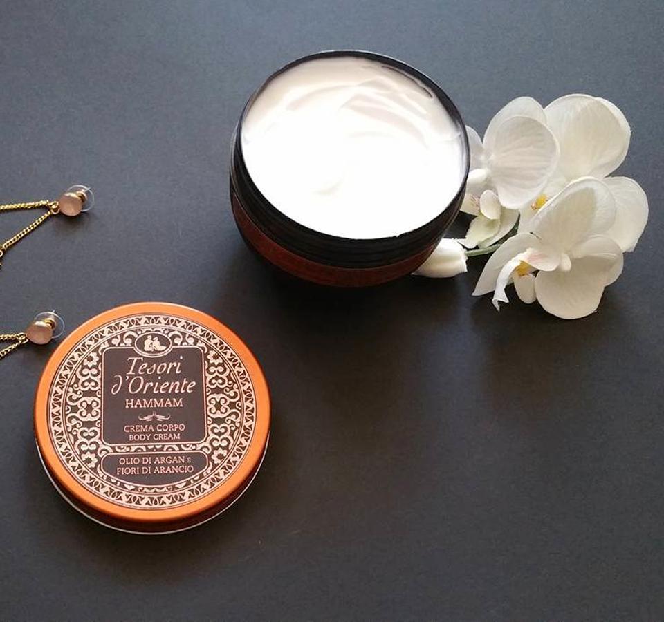 Kem dưỡng da hương nước hoa Italia Tesori DOriente Tinh dầu Argan Hamman 300ml tốt nhất