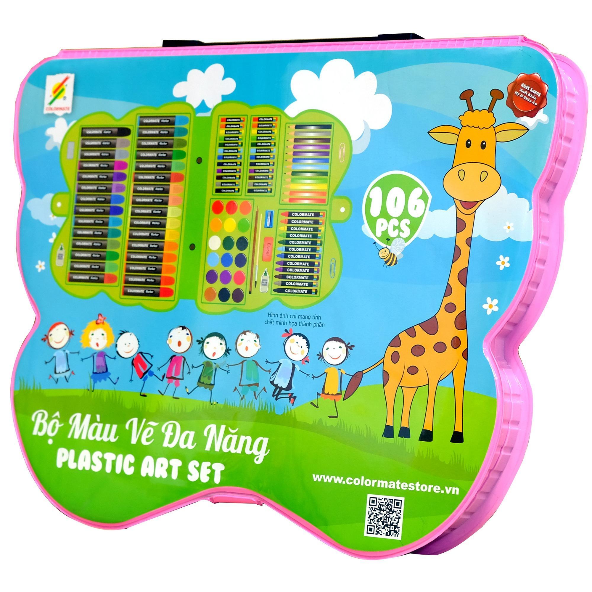 Bộ Màu Vẽ Đa Năng Hộp Nhựa CM-106PLS Có Giá Ưu Đãi