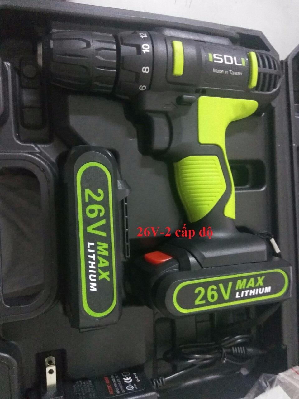máy khoan pin đài loan 26V-2 cấp độ