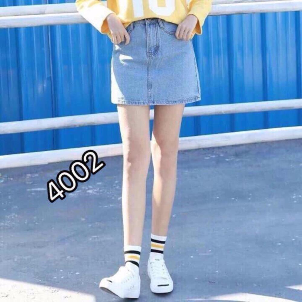 Chân Váy Jeans Chữ A Thời Trang OHS4001-2