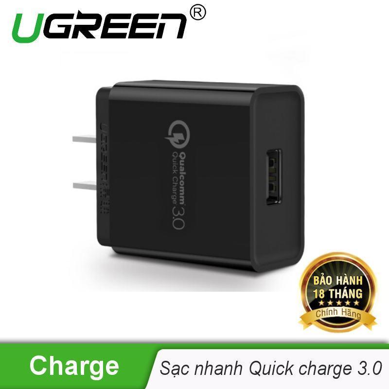 Sạc nhanh QuickCharge 3.0 chuân chân cắm kiểu USA UGREEN CD122 20838 - Hãng phân phối chính thức