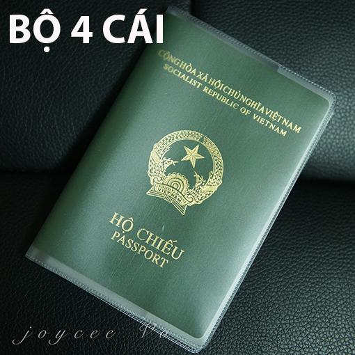 Chương Trình Ưu Đãi cho Combo 4 Cái Vỏ Bao Hộ Chiếu (passport) Dẻo Trong Có Khe đựng Vé Máy Bay Và Các Loại Thẻ Joycee Vo 4B132