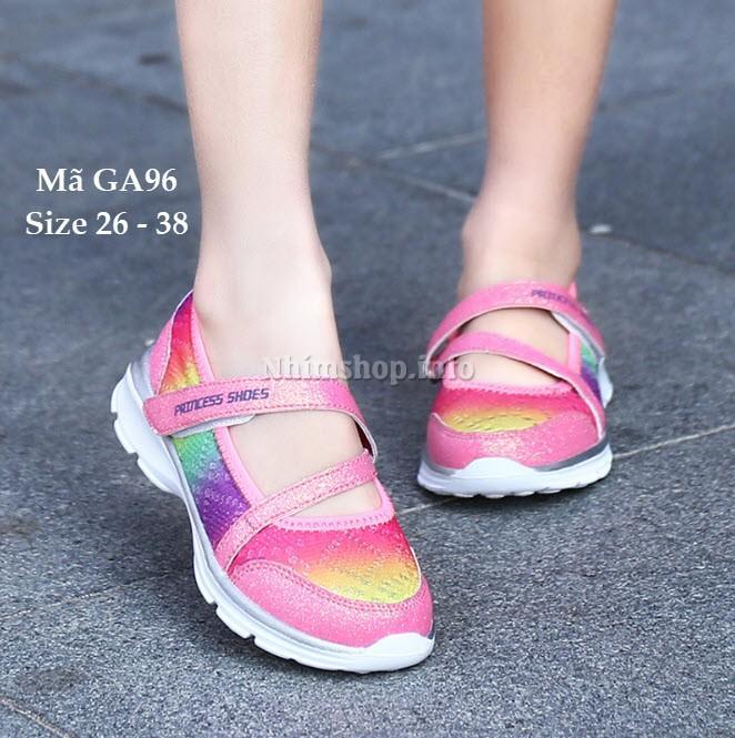 Giày Bé Gái Đa Sắc Màu Siêu Nhẹ Cho Bé Gái 3 - 12 Tuổi GA96
