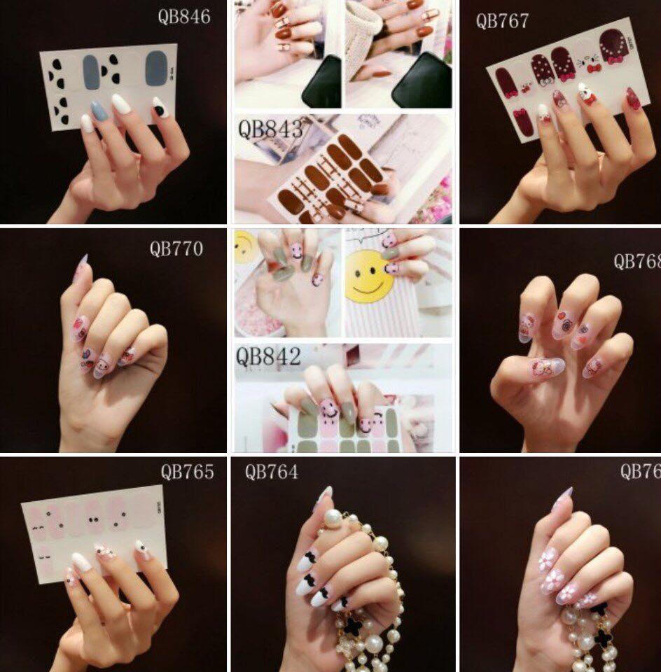 Combo 12 miếng dán móng tay tuyệt đẹp cho phái đẹp (Sticker dán móng) nhập khẩu