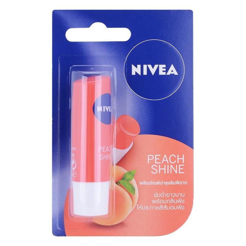 Son dưỡng ẩm hương đào Nivea Peach Shine 4.8g Thái cao cấp
