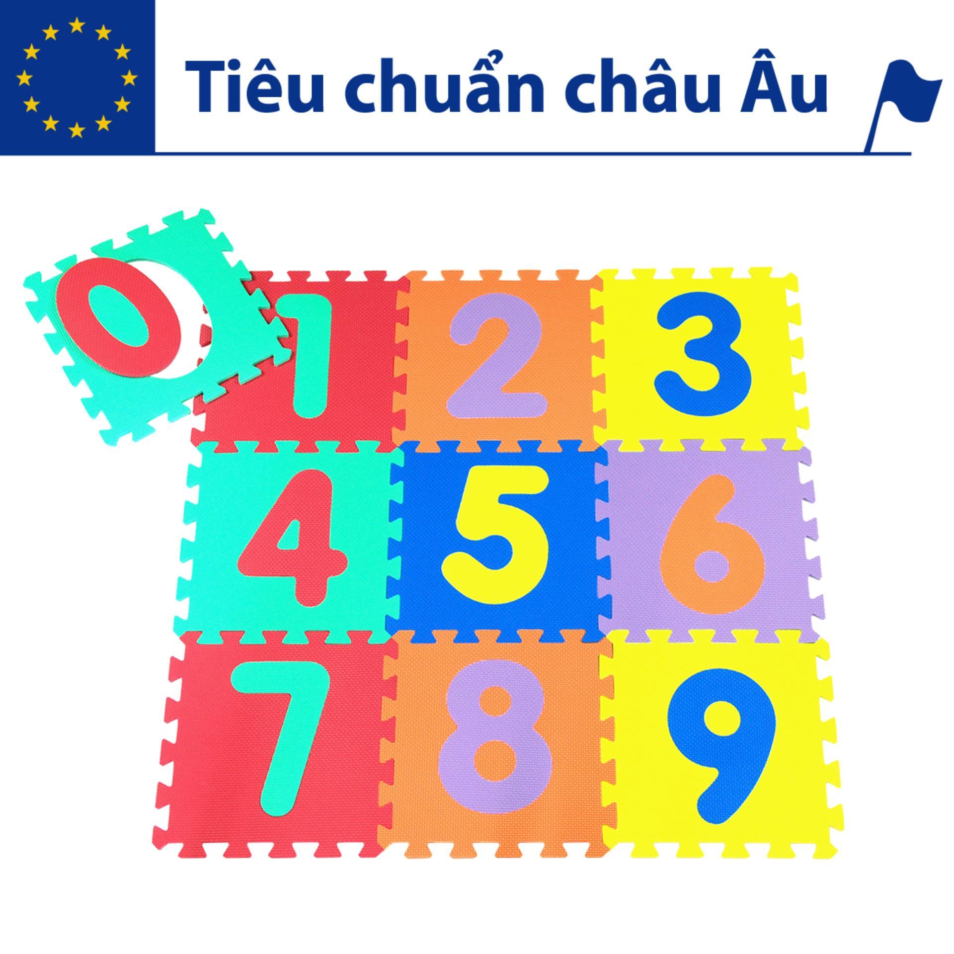 Hình ảnh Thảm xốp lót sàn cho bé - chữ số (10 miếng, diện tích 1m2) Smile Puzzle