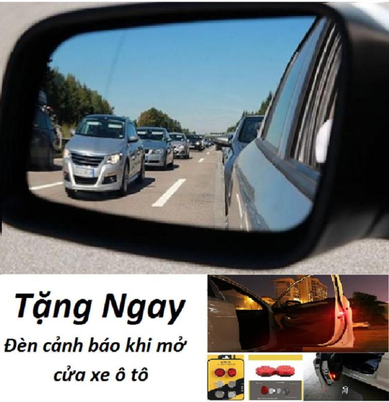 Miếng dán chống nước gương ô tô ( Miếng Dài ) Bộ gồm 2 miếng dán + Tặng bộ 2 đèn cảnh báo mở cửa ô tô