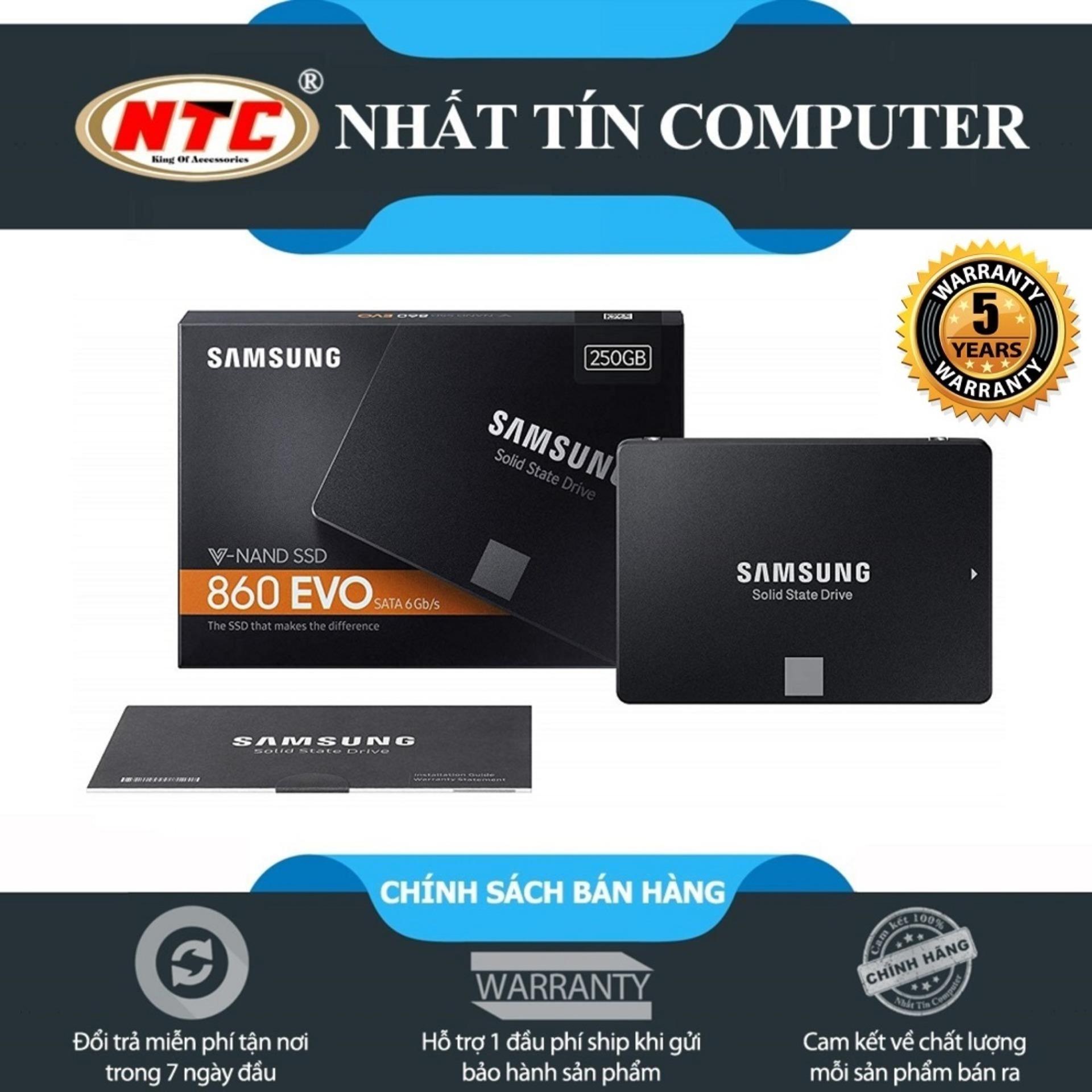 Hình ảnh Ổ cứng SSD Samsung 860 Evo 250GB 2.5-Inch SATA III - box Anh (Đen)