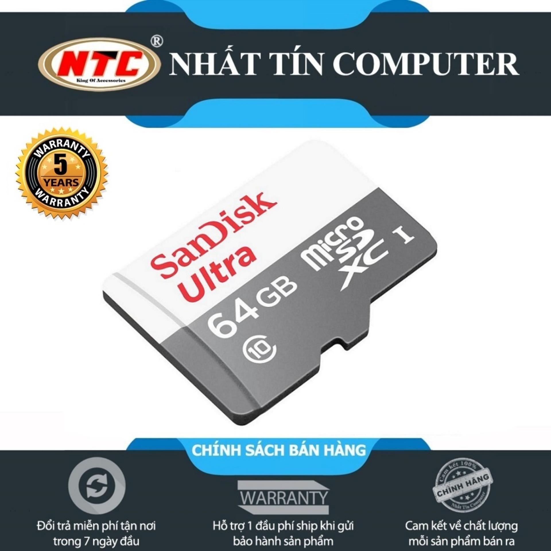 Thẻ Nhớ MicroSDXC SanDisk Ultra 64GB 80MB/s (New) Siêu Khuyến Mại