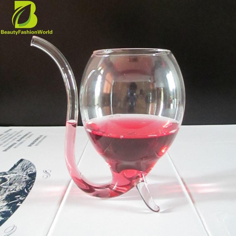 Hàng mới về 300ml Wine Glass Vampire Cup With Tube Straw Xmas Gift juice cup creative - intl so giá