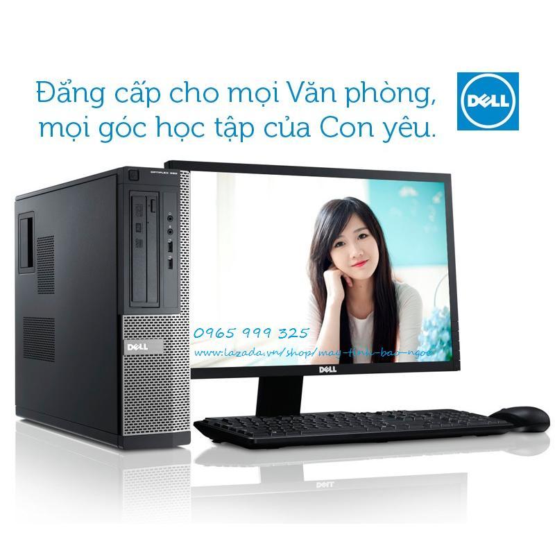 Bộ Máy tính Dell 990 optiplex Core i3 ram 4gb hdd 250gb, Màn hình Dell 18.5 + Tặng phím chuột dell, usb wifi - Hàng Nhập Khẩu BC 990.