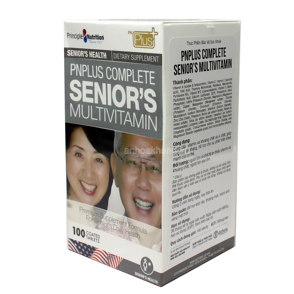 Vitamin toàn diện cho người cao tuổi - PnPlus Complete Senior's Multivitamin