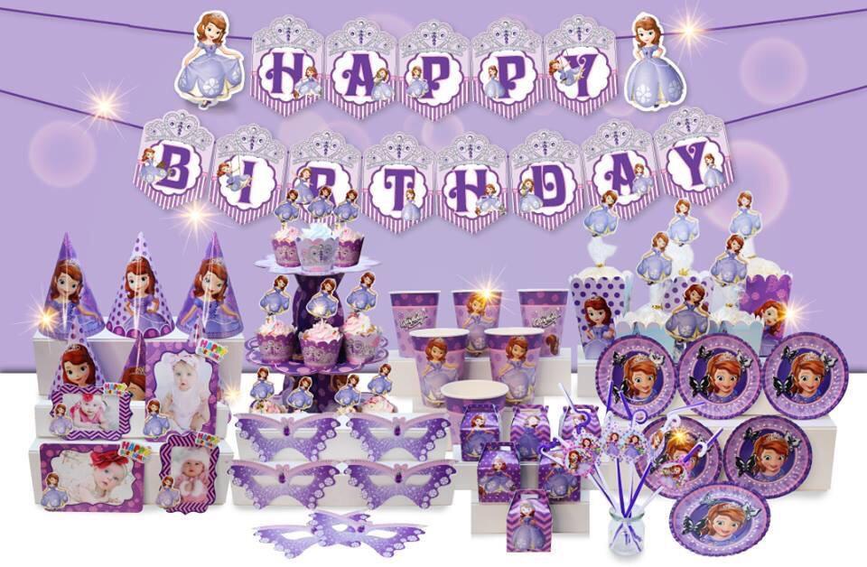 Hình ảnh set bàn tiệc chủ đề công chúa sophia