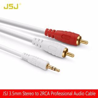 [HCM]Cáp loa AV đầu 3.5mm ly ra 2 đầu bông sen AV dài 3M - Dây loa 1 đầu 3.5 ra 2 av hiệu JSJ thumbnail