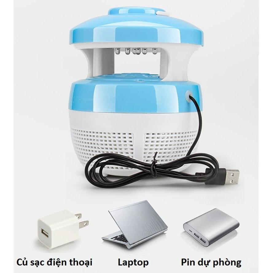 Đèn diệt muỗi kiêm đèn ngủ dùng cổng sạc USB