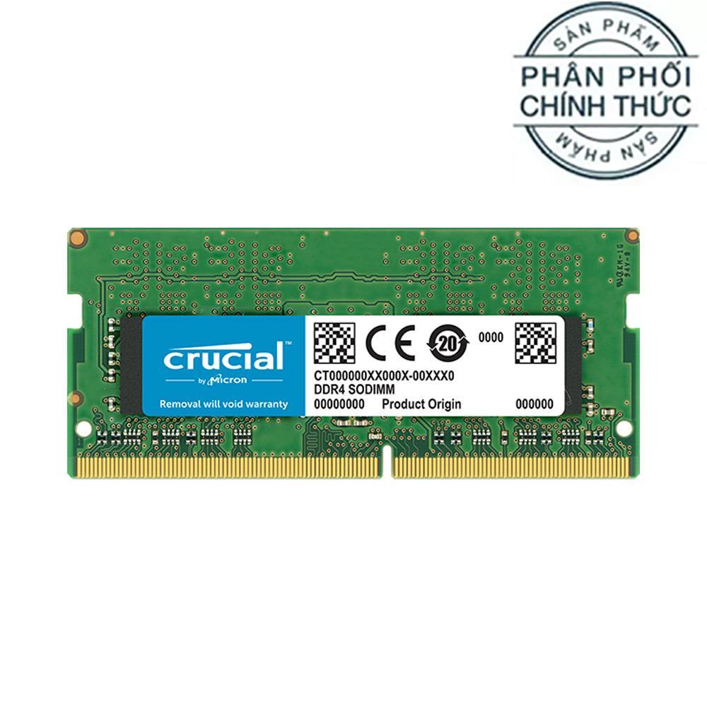 Giá Ram Laptop Crucial DDR4 16GB Bus 2666 SODIMM 1.2v (CT16G4SFD8266) - Hãng Phân Phối Chính Thức