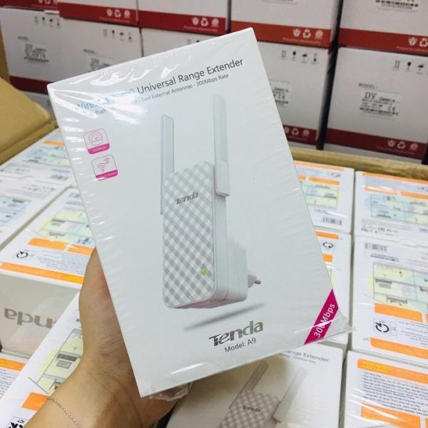 Bảng giá Bộ kích sóng wifi, tiếp nối sóng wifi Tenda A9 Tốc độ 300Mbps 2 Ăng ten Phong Vũ