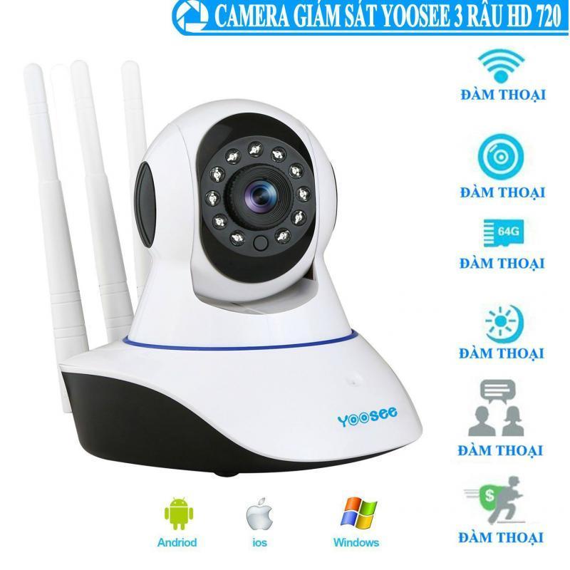 Camera Wifi giám sát 3 râu Yoosee - 10 đèn hồng ngoại quay trong đêm