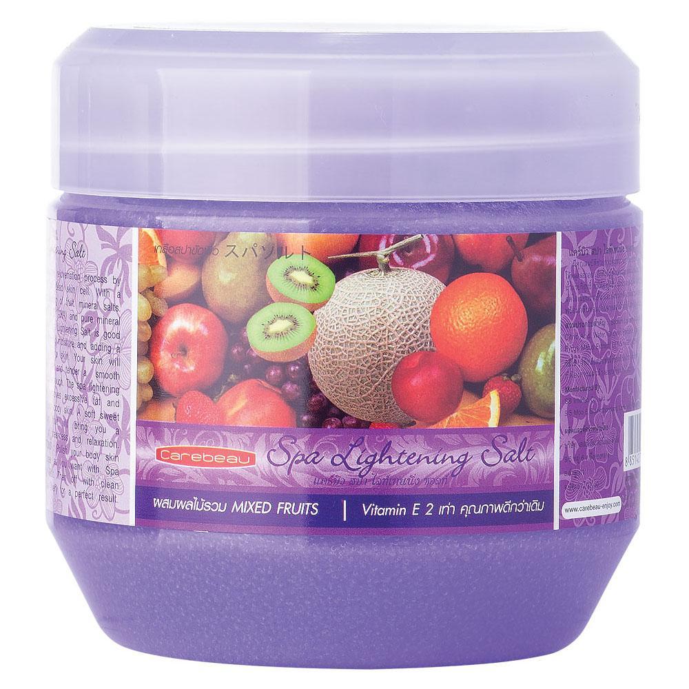 Muối tắm đa công dụng Carebeau Spa Lightening Salt 700g trái cây hỗn hợp