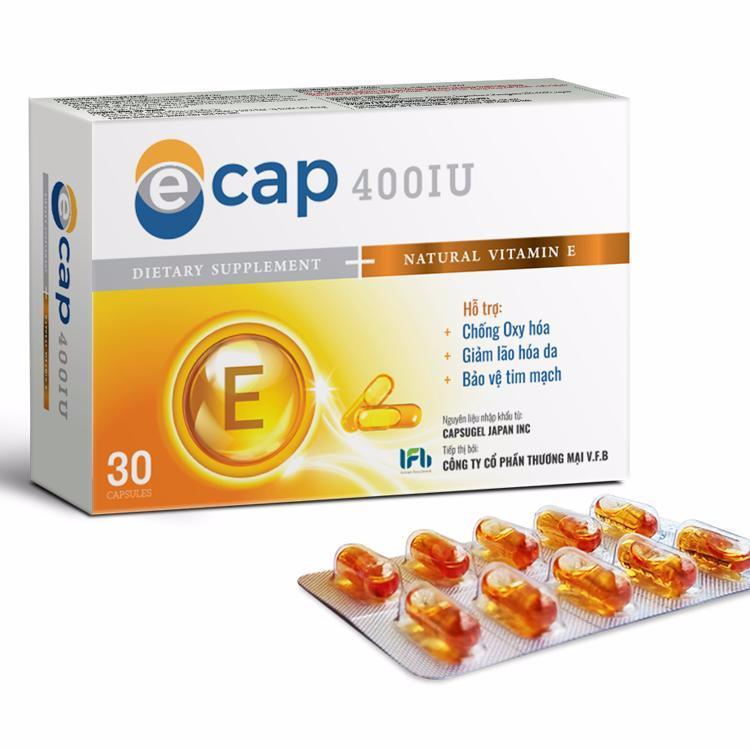 Vitamin E tự nhiên 400IU Ecap giúp đẹp da chống lão hóa của Nhật Bản