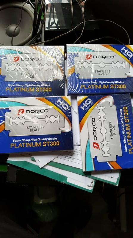Hộp 100 Lưỡi Lam Dorco ST-300 (Nhãn Xanh) (Tặg Lưỡi Dorco)