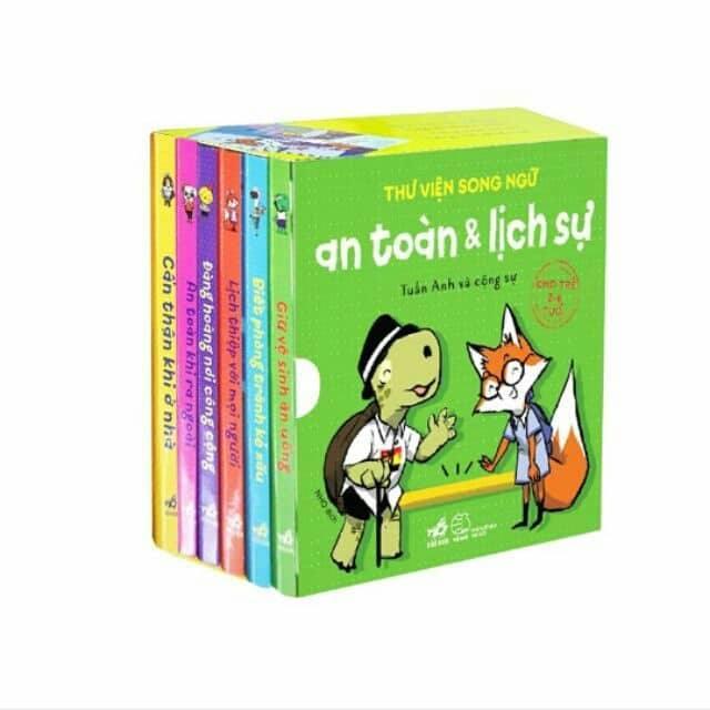 Mua Sách - Thư viện song ngữ an toàn và lịch sự cho bé ( bộ 6 cuốn)