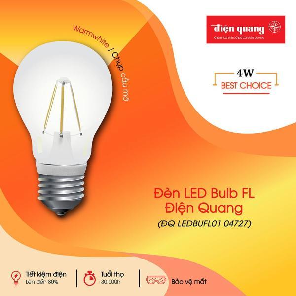Đèn LED Bulb FL ĐQ LEDBUFL01 (4W, Warmwhite, Chụp Cầu Mờ)