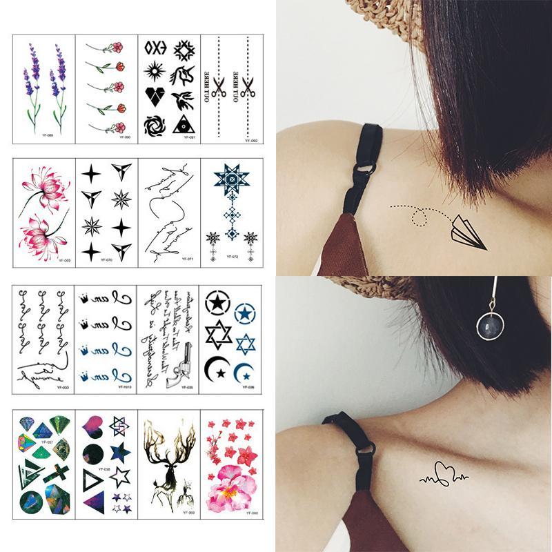 Hình xăm dán tatoo giả mini - set 30 miếng dán nhiều chi tiết cực độc- cực đẹp, mẫu mã đa dạng như hình xăm thật