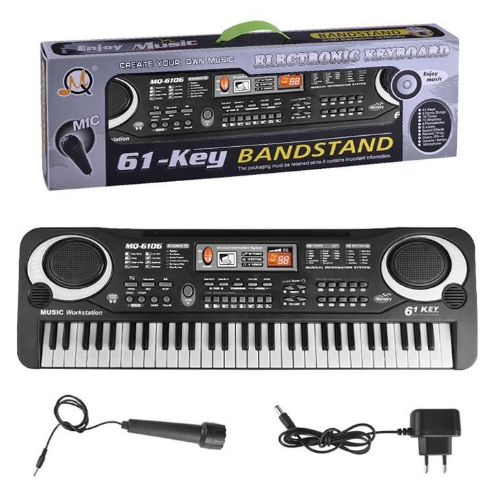 Hình ảnh Đàn Piano Electronic Keyboard 61 phím kèm mic cho bé