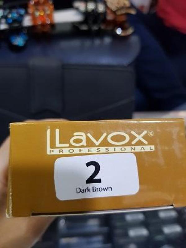 NhuộmNano Collagen Lavox dark brown #02 ( Nâu sậm ) cao cấp