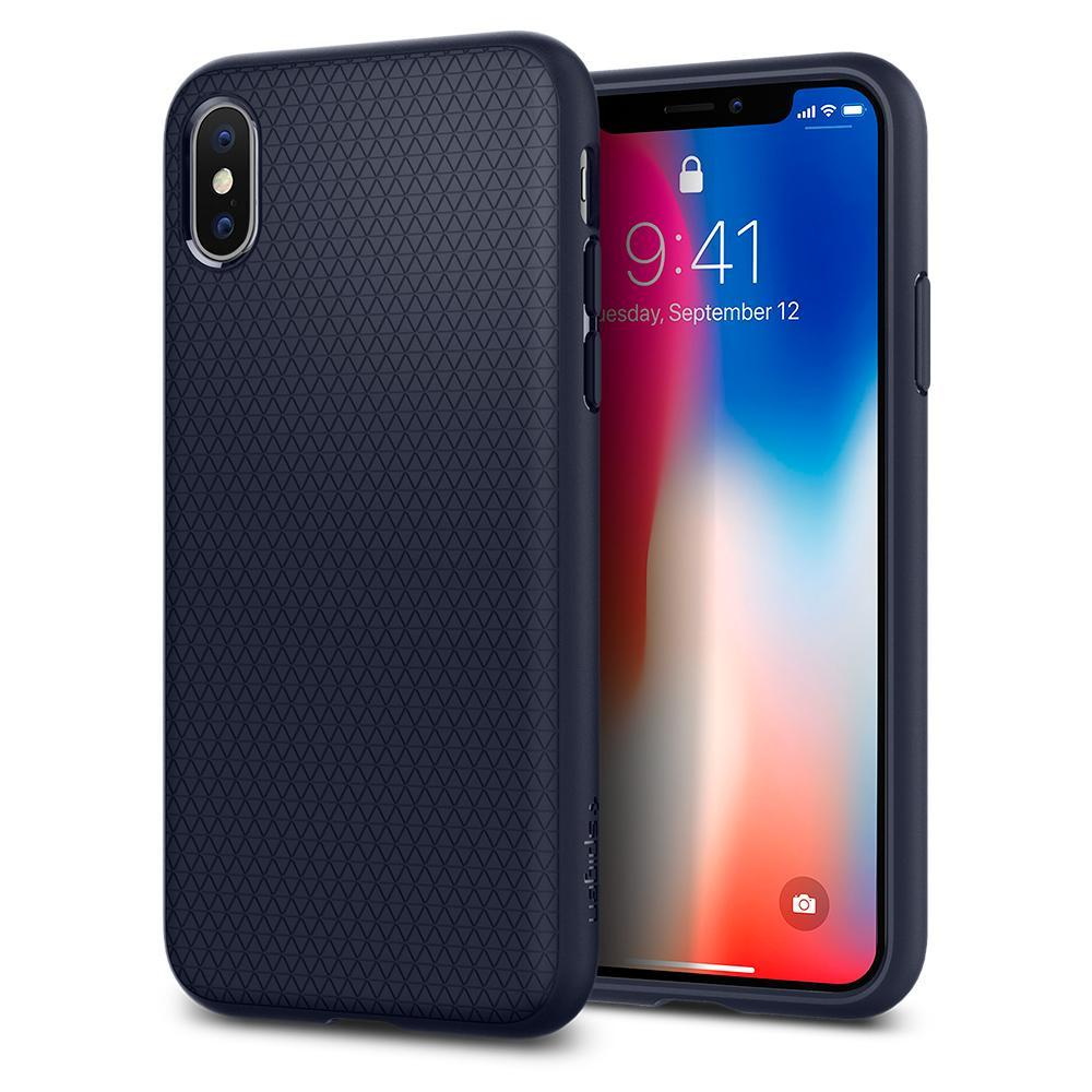 Giá Bán Spigen Iphone X Case Liquid Air Midnight Blue Nguyên