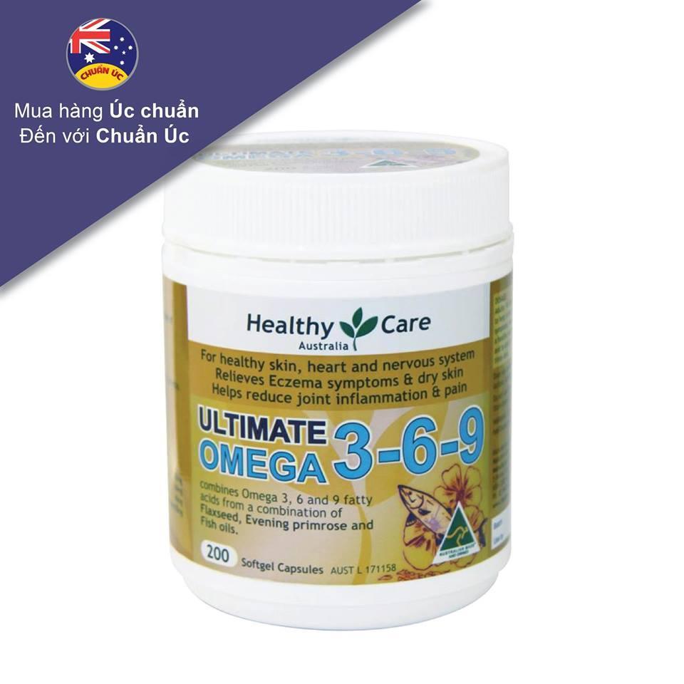 Dầu cá Omega 3-6-9 Healthy Care Ultimate - Hàng Úc