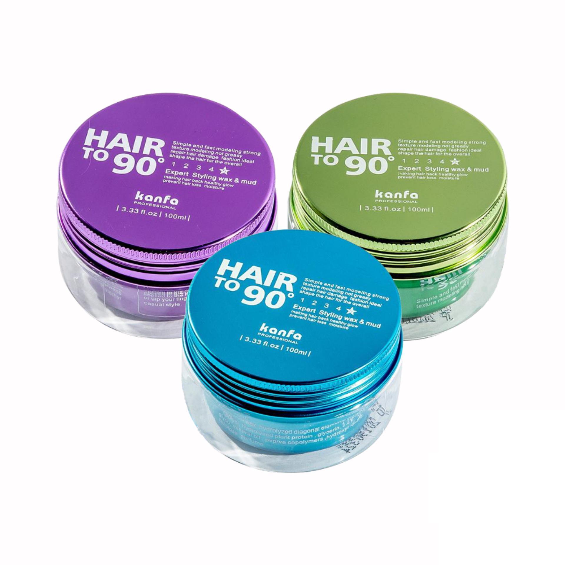 Sáp vuốt Tóc Kanfa Hair To 90 Wax đặc trị những mái tóc mỏng, khó giữ nếp
