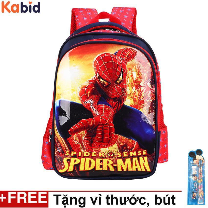 Giá bán Cặp sách học sinh lớp 1 siêu nhẹ Người nhện spider man đỏ
