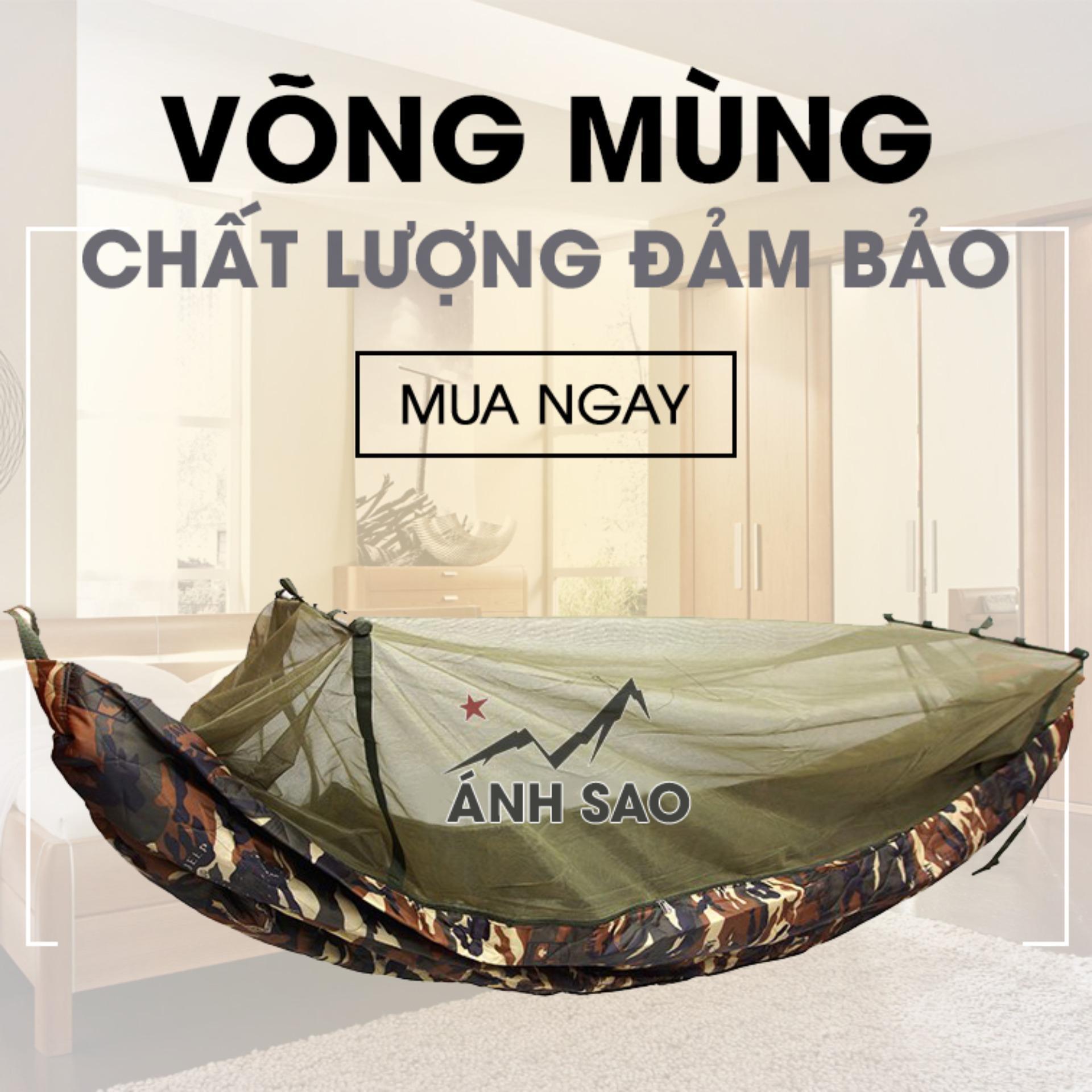 Hình ảnh Túi ngủ Biệt Kích Mỹ Phối Mùng Chống Muỗi 2 lớp Ánh Sao(137 * 220 cm)