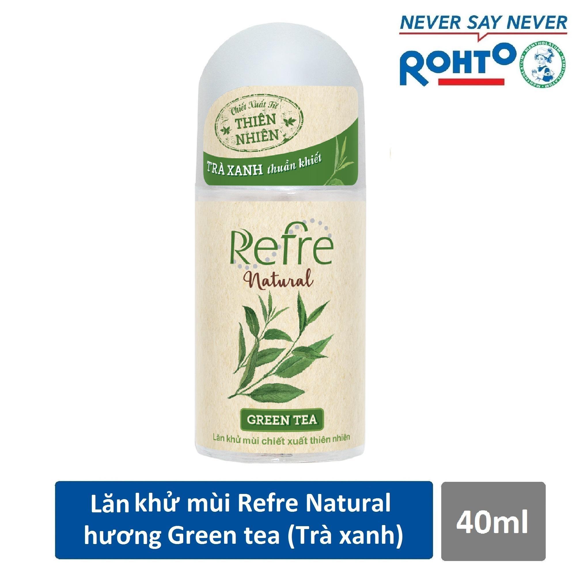 Lăn khử mùi Refre Natural Green Tea Hương Trà Xanh 40ml nhập khẩu