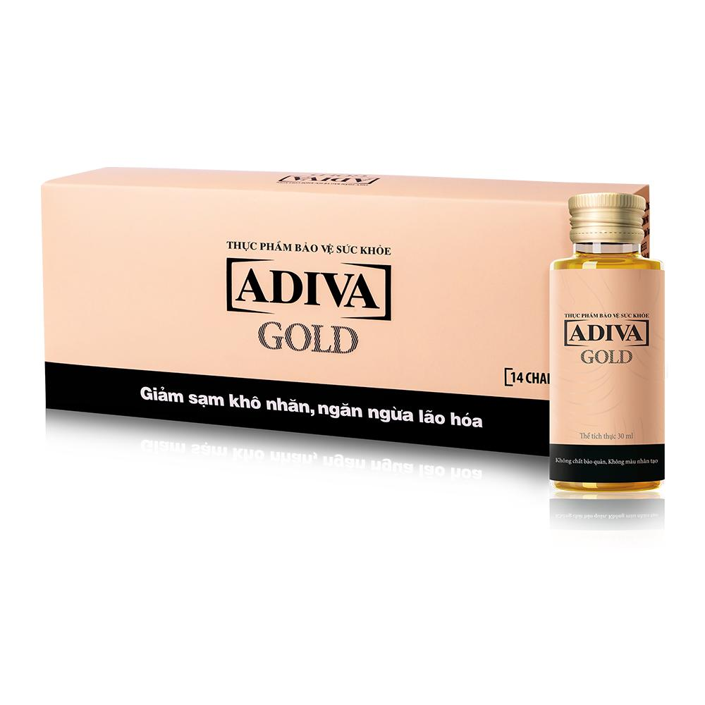 Dưỡng chất uống làm đẹp Collagen Adiva Gold 14 chai x 30ml nhập khẩu