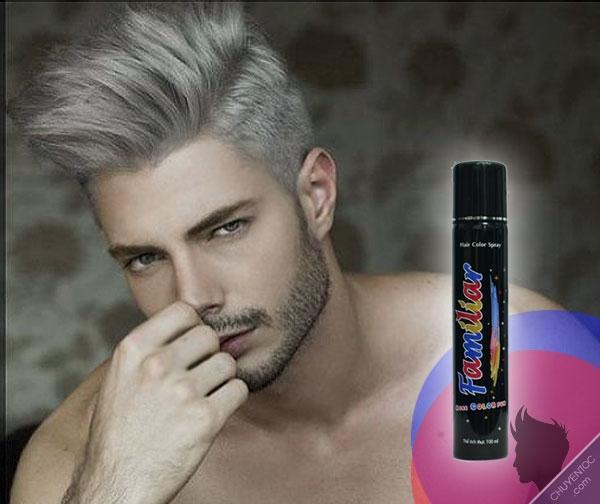 Keo xịt tóc màu Familiar 100ml - Màu K2 xám khói nhập khẩu