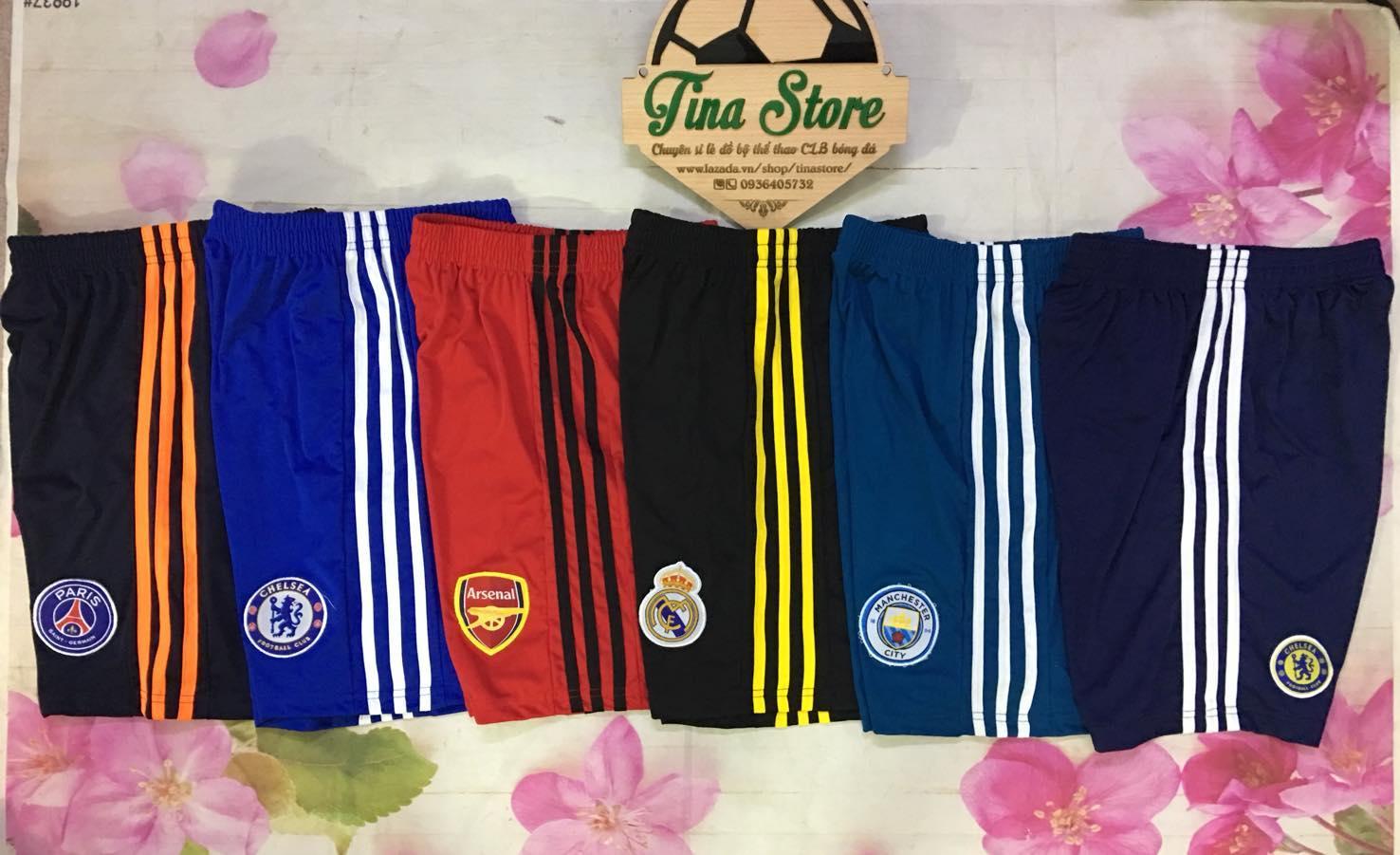 Combo 3 quần short CLB bóng đá