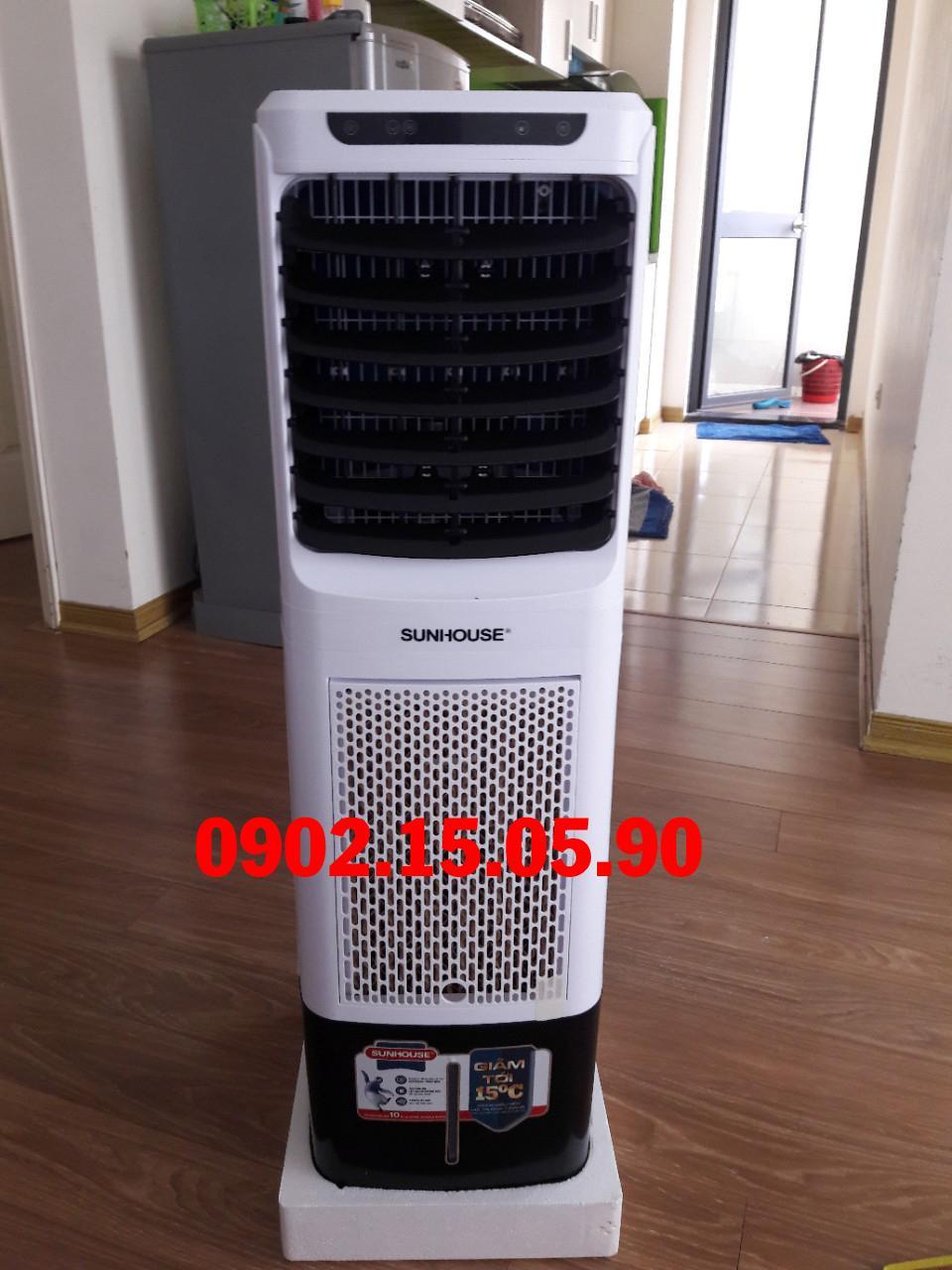 Quạt điều hòa không khí Sunhouse SHD7713, Công suất 85W, Lưu lượng gió 2000m3/h, Diện tích làm mát 20m2, Có điều khiển từ xa, Tạo ion âm lọc sạch không khí - Có ảnh, video thật,  bảo hành tại nhà